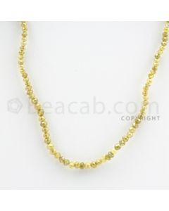 2.00 to 3.00 mm - Yellow Diamond Faceted Beads - 22.80 carats - 15 inches (YDia1017)