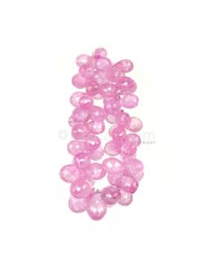 1 Line - Light Pink Pink Sapphire Faceted Drops - 60.00 cts - 5.2 x 3.8 mm to 8.9 x 5.6 mm (PSDR1012)