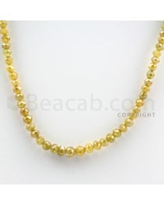 2.50 to 4.50 mm - Yellow Diamond Faceted Beads - 41.00 carats - 15 inches (YDia1018)