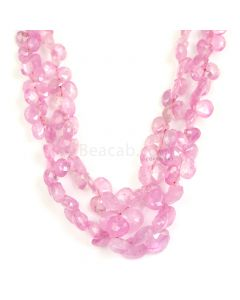 2 Lines - Light Pink Pink Sapphire Faceted Drops - 134.00 cts - 3.4 x 3.6 mm to 7.4 x 7.4 mm (PSDR1011)