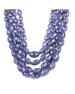 4 Lines - Violet Tanzanite Tumbled Beads - 1457.63 cts - 8 x 6.3 mm to 21.4 x 15 mm (TZTUB1031)