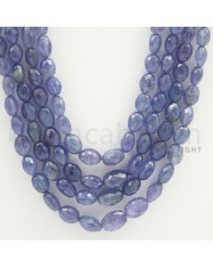 4.00 to 10.00 mm - Tanzanite Faceted Tumbled Beads - 471 carats - 19 to 21 inches (TzFTuB1002)