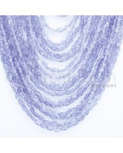 3.50 to 7.50 mm - Tanzanite Faceted Tumbled Beads - 954.30 carats - 16 to 25 inches (TzFTuB1003)