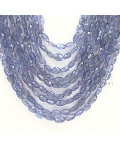 4.00 to 7.00 mm - Tanzanite Faceted Tumbled Beads - 524.65 carats - 18 to 24 inches (TzFTuB1012)