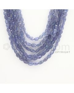 5.50 to 7.00 mm - Tanzanite Faceted Tumbled Beads - 399.35 carats - 20 to 22 inches (TzFTuB1013)
