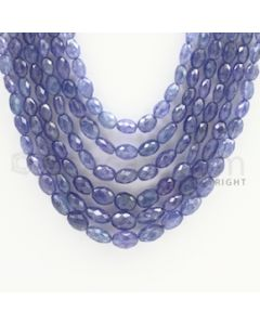 5.50 to 9.50 mm - Tanzanite Faceted Tumbled Beads - 529.73 carats - 17 to 21 inches (TzFTuB1014)