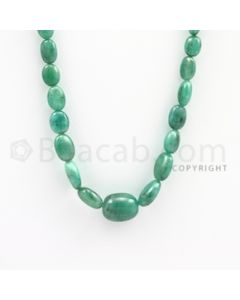 6.50 to 15.00 mm - Emerald Tumbled Beads - 125.00 carats - 20 inches (EmTuB1008)