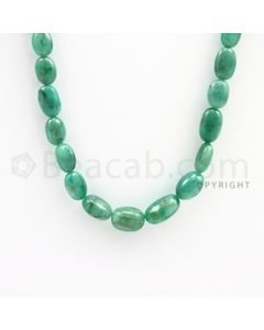6.00 to 13.00 mm - Emerald Tumbled Beads - 122.00 carats - 22 inches (EmTuB1010)