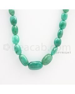 6.00 to 16.00 mm - Emerald Tumbled Beads - 148.00 carats - 22 inches (EmTuB1011)