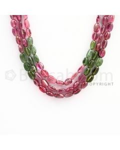 7.00 to 10.00 mm - Multi Tourmaline Long Beads - 235.00 carats - 17 to 18 inches (MuToLB1001)