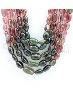 7.00 to 17.00 mm - Multi Tourmaline Long Beads - 1056.00 carats - 20 to 24 inches (MuToLB1003)