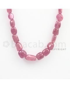 8.50 to 15.50mm - Ruby Tumbled (FG) Beads - 279.30 carats - 19 inches (RuTuBFG1005)