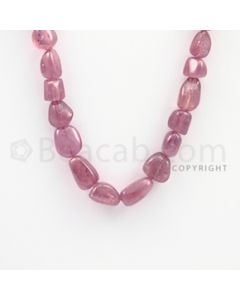8.00 to 14.50 mm - Ruby Tumbled (FG) Beads - 334.40 carats - 22 inches (RuTuBFG1007)