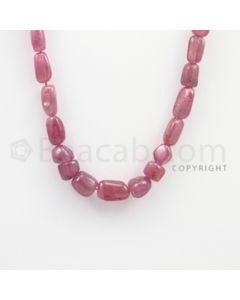 10.00 to 14.00 mm - Ruby Tumbled (FG) Beads - 254.60 carats - 18 inches (RuTuBFG1009)