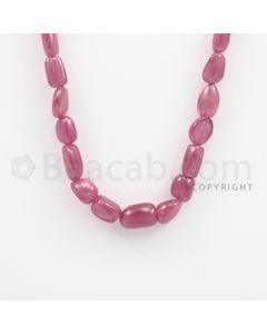 8.00 to 14.00 mm - Ruby Tumbled (FG) Beads - 279.05 carats - 21 inches (RuTuBFG1010)