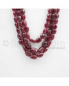 7.00 to 15.00 mm - Ruby Tumbled (FG) Beads - 807.00 carats - 19 to 22 inches (RuTuBFG1014)