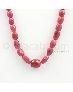7.00 to 12.00 mm - 1 Line - Pink Sapphire Faceted Tumbled Beads - 16 inches (PnSFTuB1002)