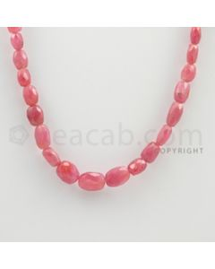 7.00 to 11.00 mm - 1 Line - Pink Sapphire Faceted Tumbled Beads - 12 inches (PnSFTuB1005)