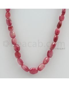 7.00 to 13.00 mm - 1 Line - Pink Sapphire Faceted Tumbled Beads - 16 inches (PnSFTuB1006)