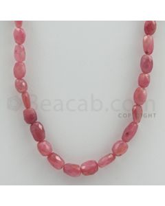 6.50 to 10.00 mm - 1 Line - Pink Sapphire Faceted Tumbled Beads - 17 inches (PnSFTuB1008)