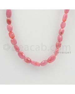 6.50 to 11.00 mm - 1 Line - Pink Sapphire Faceted Tumbled Beads - 17 inches (PnSFTuB1007)