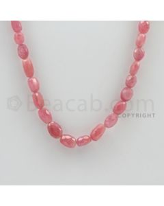 6.00 to 10.00 mm - 1 Line - Pink Sapphire Faceted Tumbled Beads - 15 inches (PnSFTuB1010)