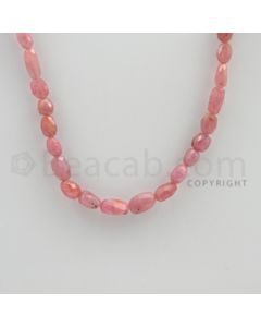 6.00 to 11.00 mm - 1 Line - Pink Sapphire Faceted Tumbled Beads - 14 inches (PnSFTuB1011)