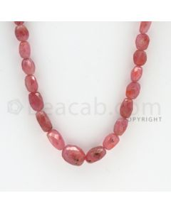 7.00 to 13.00 mm - 1 Line - Pink Sapphire Faceted Tumbled Beads - 18 inches (PnSFTuB1012)