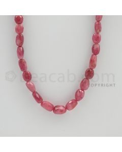 7.00 to 12.00 mm - 1 Line - Pink Sapphire Faceted Tumbled Beads - 18 inches (PnSFTuB1013)