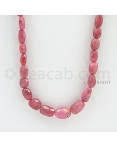 5.00 to 13.00 mm - 1 Line - Pink Sapphire Faceted Tumbled Beads - 18 inches (PnSFTuB1014)