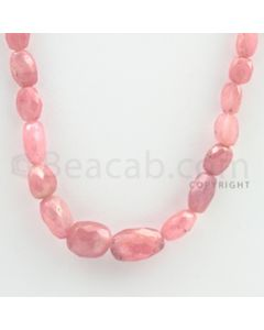 6.00 to 12.00 mm - 1 Line - Pink Sapphire Faceted Tumbled Beads - 14 inches (PnSFTuB1016)