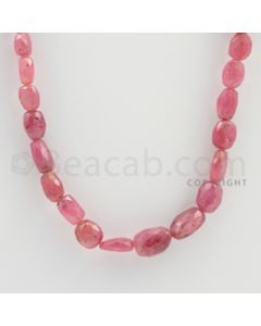 7.00 to 11.00 mm - 1 Line - Pink Sapphire Faceted Tumbled Beads - 18 inches (PnSFTuB1018)