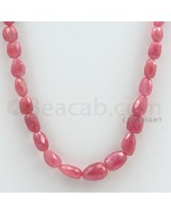 7.00 to 13.00 mm - 1 Line - Pink Sapphire Faceted Tumbled Beads - 17 inches (PnSFTuB1020)