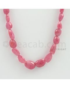 7.00 to 13.00 mm - 1 Line - Pink Sapphire Faceted Tumbled Beads - 20 inches (PnSFTuB1021)