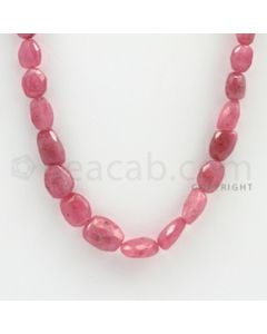 7.00 to 13.00 mm - 1 Line - Pink Sapphire Faceted Tumbled Beads - 20 inches (PnSFTuB1022)