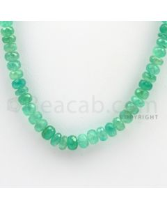 4.50 to 7.50 mm - 1 Line - Emerald Faceted Beads - 16 inches (EmFB1024)