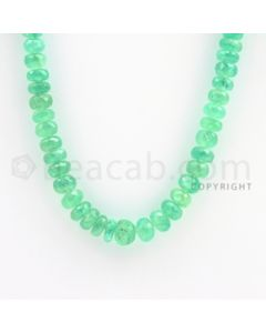 7.50 to 9.00 mm - 1 Line - Emerald Faceted Beads - 16 inches (EmFB1025)