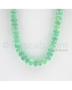 7.50 to 9.50 mm - 1 Line - Emerald Faceted Beads - 20 inches (EmFB1026)