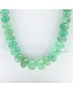 7.50 to 13.50 mm - 1 Line - Emerald Faceted Beads - 31 inches (EmFB1027)