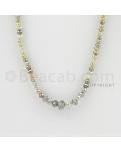 2.00 to 6.00 mm - 1 Line - Fancy Diamond Faceted Beads - 15 inches (FncyDia1026)
