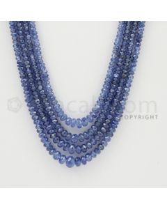 2.00 to 6.00 mm - 4 Lines - Sapphire Faceted Beads - 16 to 18 inches (SFB1005)