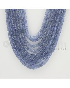 2.00 to 5.00 mm - 8 Lines - Sapphire Faceted Beads - 19 to 23 inches (SFB1035)