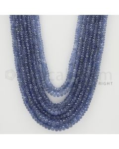 2.50 to 5.50 mm - 7 Lines - Sapphire Faceted Beads - 18 to 22 inches (SFB1036)