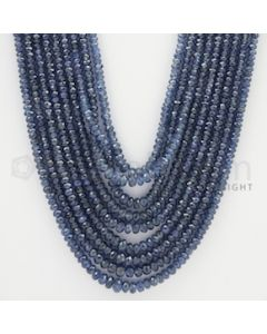 2.00 to 5.00 mm - 9 Lines - Sapphire Faceted Beads - 21 to 26 inches (SFB1038)