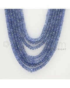 2.50 to 4.00 mm - 7 Lines - Sapphire Faceted Beads - 18 to 22 inches (SFB1041)