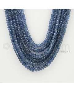 2.50 to 5.50 mm - 6 Lines - Sapphire Faceted Beads - 15 to 18 inches (SFB1044)