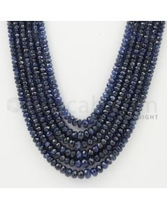 2.50 to 5.00 mm - 6 Lines - Sapphire Faceted Beads - 16 to 19 inches (SFB1047)