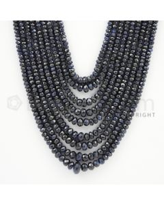 2.50 to 4.50 mm - 9 Lines - Sapphire Faceted Beads - 16 to 20 inches (SFB1048)