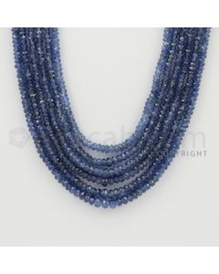 2.50 to 4.50 mm - 6 Lines - Sapphire Faceted Beads - 18 to 20 inches (SFB1049)