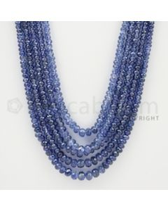 2.00 to 5.00 mm - 5 Lines - Sapphire Faceted Beads - 20 to 23 inches (SFB1051)